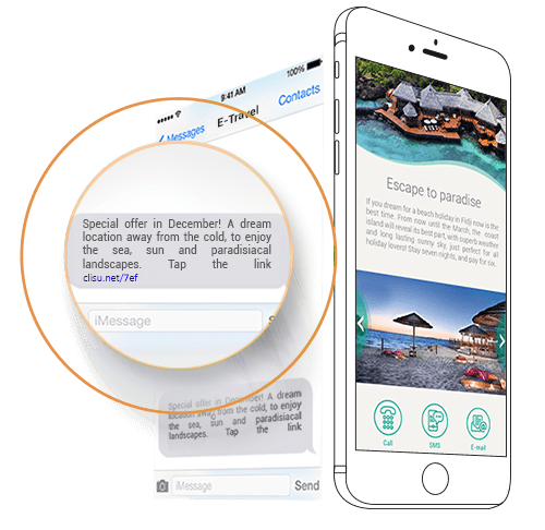 La prima evoluzione. Landing Promotion e link negli sms